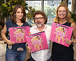 Tina Fey, Jeff Richmond and Nell Benjamin  attend the 'Mean Girls' Original Broadway Cast Linyl Release at the Herald Square Urban Outfitters' on August 28, 2018 in New York City.