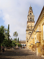 Torre del Alminar, Mezquita in Cordoba, Spain. It is part of Cordoba's great mosque dating back to 8th century. In 16th century a cathedral was build in the heart of the reconsecrated and partially changed mosque.