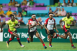 Uganda vs Papua New Guinea during their Quarter-finals match as part of the HSBC Hong Kong Rugby Sevens 2017 on 08 April 2017 in Hong Kong Stadium, Hong Kong, China. Photo by Marcio Rodrigo Machado / Power Sport Images
