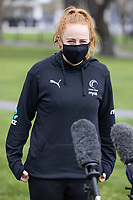 Sam Winders of the Silver Ferns during a press conference ahead of their Test matches against England, at Rydges Hotel in Christchurch, New Zealand on Friday, 17 September 2021. Photo: Martin Hunter / lintottphoto.co.nz