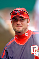 4 September 2005: Ryan Church, outfielder for the Washington Nationals,in the dugout during a game against the Philadelphia Phillies. The Nationals defeated the Phillies 6-1 at RFK Stadium in Washington, DC. Mandatory Photo Credit: Ed Wolfstein.