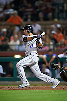 Salt River Rafters Noel Cuevas (8), of the Colorado Rockies organization, during a game against the Scottsdale Scorpions on October 12, 2016 at Scottsdale Stadium in Scottsdale, Arizona.  Salt River defeated Scottsdale 6-4.  (Mike Janes/Four Seam Images)