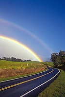 Upcountry Maui in the Lower Kula area is graced by a rainbow.