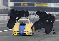 Feb 10, 2017; Pomona, CA, USA; NHRA top alcohol funny car driver Sean Bellemeur during qualifying for the Winternationals at Auto Club Raceway at Pomona. Mandatory Credit: Mark J. Rebilas-USA TODAY Sports