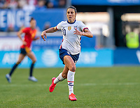 HARRISON, NJ - MARCH 08: Carli Lloyd #10 of the United States sprints during a game between Spain and USWNT at Red Bull Arena on March 08, 2020 in Harrison, New Jersey.