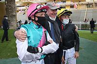 4th October 2020, Longchamp Racecourse, Paris, France; Qatar Prix de l Arc de Triomphe;  Lanfranco Dettori - BE Nielsen - Olivier Peslier