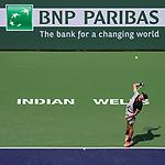 March 09, 2018: Ernesto Escobedo (USA) defeated Frances Tiafoe (USA) 7-5, 6-3 at the BNP Paribas Open played at the Indian Wells Tennis Garden in Indian Wells, California. ©Mal Taam/TennisClix/CSM