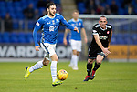 St Johnstone v Hamilton Accies…10.11.18…   McDiarmid Park    SPFL<br />Drey Wright breaks forward<br />Picture by Graeme Hart. <br />Copyright Perthshire Picture Agency<br />Tel: 01738 623350  Mobile: 07990 594431