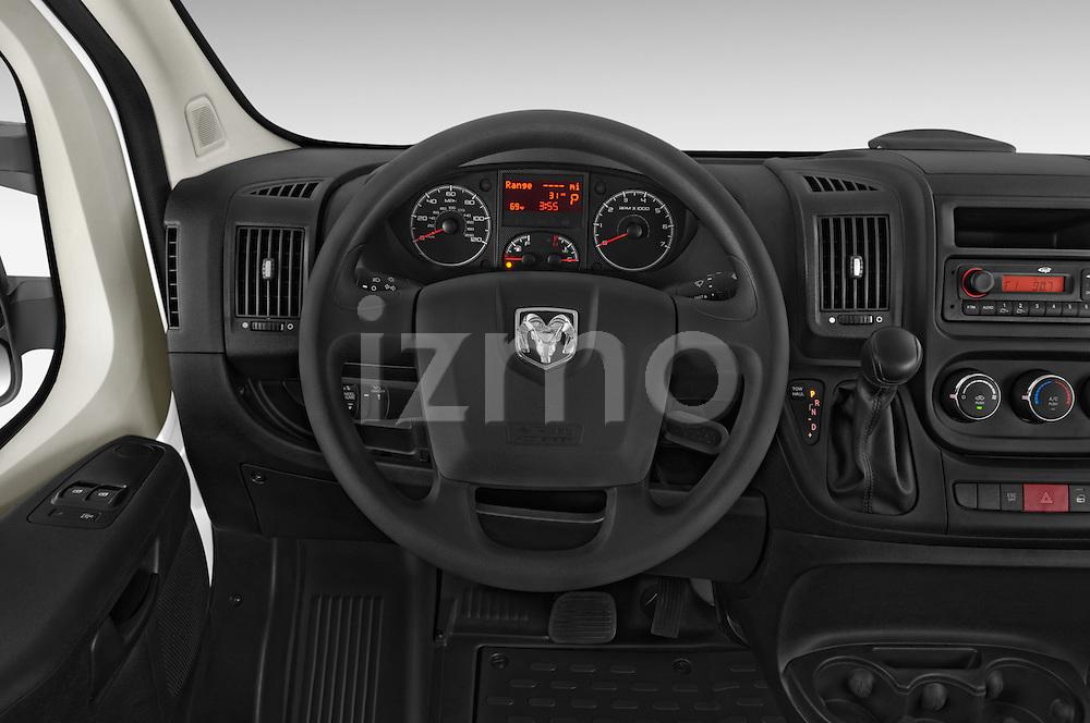 Car pictures of steering wheel view of a2017 Ram Promaster 1500 136 WB Low Roof 3 Door Cargo Van Steering Wheel