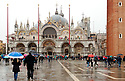 A little rain in Venice didn't stop the crowds from visiting St. Mark's Cathedral.