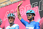 Rick Zabel (GER) Israel Start-Up Nation wearing the Maglia Azzurra at sign on before the start of Stage 2 of the 103rd edition of the Giro d'Italia 2020 running 149km from Alcamo to Agrigento, Sicily, Italy. 4th October 2020.  <br /> Picture: LaPresse/Massimo Paolone | Cyclefile<br /> <br /> All photos usage must carry mandatory copyright credit (© Cyclefile | LaPresse/Massimo Paolone)