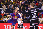 VELUX EHF 2019/20 EHF Men's Champions League Group Phase - Round 8.<br /> FC Barcelona vs Aalborg Handbold: 44-35.<br /> Luka Cedric vs Kristian Saeveraas.
