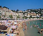 France, Côte d'Azur, Menton: Beach Scene | Frankreich, Côte d'Azur, Menton: Strand