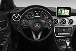 Car pictures of steering wheel view of a 2018 Mercedes Benz CLA Coupe Business Solution 4 Door Sedan