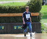 William Fox-Pitt(GBR) walks the course before competing on NEUF DES COEURS during the Cross Country Test at the Rolex 3-Day 4-Star Event at the Kentucky Horse Park in Lexington, Kentucky on April 30, 2011.