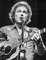 Gordon Lightfoot. Toronto songwriter,1976<br /> <br /> PHOTO : Griffin, Doug