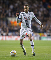 Dele Alli of Tottenham Hotspur on the ball during the UEFA Europa League match between Tottenham Hotspur and Qarabag FK at White Hart Lane, London, England on 17 September 2015. Photo by Andy Rowland.