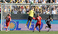 Washington Freedom's goalkeeper Erin McLeod pushes the ball over the crossbar. The LA Sol defeated the Freedom of Washington 3-1 at Home Depot Center stadium in Carson, California on Sunday afternoon June 7, 2009.   .