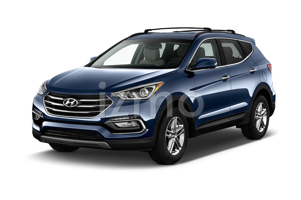 2017 Hyundai Santa-Fe Sport 5 Door SUV Angular Front stock photos of front three quarter view
