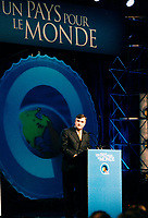 Montreal (Qc) CANADA - May 5 2000 File Photo - Lucien Bouchard, PQ Leader opening speech  at the convention