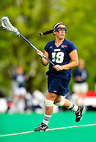 1 May 2010: University of New Hampshire Wildcat attacker JoJo Curro, a Sophomore from Amherst, NH, in action against the University of Vermont Catamounts at Moulton Winder Field in Burlington, Vermont. The visiting Wildcats defeated the Lady Catamounts 18-10 in the last game of the 2010 regular season. Mandatory Photo Credit: Ed Wolfstein Photo