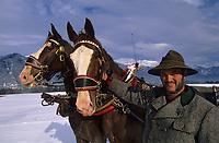 Europe/Autriche/Tyrol/Axams: Promenade en traineau avec Mr Ehrensperger-Tourisme équestre - AUTORISATION N°A26