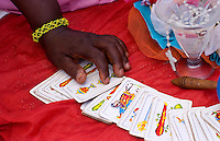 Spiritual Tallow card reading of Santeria Religion in Havana Cuba Habana