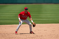Philadelphia Phillies third baseman Matt Kroon (10) during a Minor League Spring Training game against the Detroit Tigers on April 17, 2021 at Joker Marchant Stadium in Lakeland, Florida.  (Mike Janes/Four Seam Images)