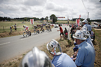 Team MTN-Qhubeka paced by Daniel Teklehaimanot (ERI/MTN-Qhubeka)<br /> <br /> stage 9: TTT Vannes - Plumelec (28km)<br /> 2015 Tour de France