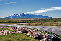 A view of Elk Mountain in Wyoming, US.