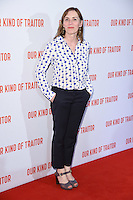 """Saskia Reeves<br /> poses at the Washington Hotel before the premiere of """"Our Kind of Traitor"""" held at the Curzon Mayfair, London<br /> <br /> <br /> ©Ash Knotek  D3113 05/05/2016"""