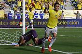 Teofilo Gutierrez celebra tras anotar el primer gol contra Peru  en el Estadio Metropolitano Roberto Melendez de Barranquilla el  8 de octubre de 2015.<br /> <br /> Foto: Archivolatino<br /> <br /> COPYRIGHT: Archivolatino<br /> Prohibido su uso sin autorización.