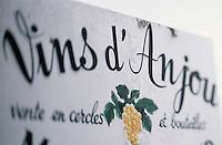 Europe/France/Pays de la Loire/49/Maine-et-Loire/Env de Chavagnes: Enseigne d'un vigneron - Vin d'Anjou