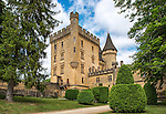 The magnificent Château de Puymartin was built in the 13th century, destroyed during the Hundred Years War (1338-1453) and reconstructed in the 15th century. It has been owned and lived in by descendants of the same family continuously since 1450.
