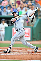 Southern Divisions left fielder Casey Golden (11) of the Asheville Tourists swings at a pitch during the South Atlantic League All Star Game at First National Bank Field on June 19, 2018 in Greensboro, North Carolina. The game Southern Division defeated the Northern Division 9-5. (Tony Farlow/Four Seam Images)