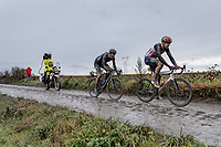 Florian Vermeersch (BEL/Lotto Soudal) and Nils Eekhof (NED/DSM)<br /> <br /> 118th Paris-Roubaix 2021 (1.UWT)<br /> One day race from Compiègne to Roubaix (FRA) (257.7km)<br /> <br /> ©kramon