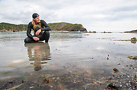 BNPS.co.uk (01202) 558833 <br /> Pic: CorinMesser/BNPS<br /> <br /> Pictured: Oly before training to swim around the Isle of Wight <br /> <br /> A super-fit eco-campaigner will today set off to break the record for the fastest person to swim around the Isle of Wight. <br /> <br /> Oly Rush is hoping to complete the gruelling non-stop 65 mile challenge in under 26 hours.<br /> <br /> The 36-year-old is due to begin the quest at 11am today and will spend the whole day and night in the water