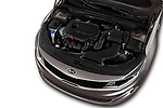 Car Stock 2018 KIA Optima LX 4 Door Sedan Engine  high angle detail view