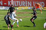 Rene Guder #18 (SV Meppen), Maxime Awoudja #15 (Tuerkguecue Muenchen), Tuerkguecue Ataspor Muenchen vs. SV Meppen, 04.04.2021<br /> <br /> DFB regulations prohibit any use of photographs as image sequences and/or quasi-video<br /> <br /> Foto © PIX-Sportfotos *** Foto ist honorarpflichtig! *** Auf Anfrage in hoeherer Qualitaet/Aufloesung. Belegexemplar erbeten. Veroeffentlichung ausschliesslich fuer journalistisch-publizistische Zwecke. For editorial use only.