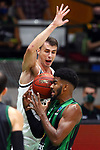 TDAYS EuroCup 2020-2021.Round 1.<br /> Joventut Badalona vs Partizan NIS Belgrado: 85-82.<br /> Nemanja Dangubic vs Shawn Dawson.