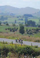 Aaron Gate, Mathew Zenovich and Liam Magennis. Stage One - Lost Lake Loop (Cambridge - Kaipaki - Roto O Rangi - Leamington). 2019 Grassroots Trust NZ Cycle Classic UCI 2.2 Tour from St Peter's School in Cambridge, New Zealand on Wednesday, 23 January 2019. Photo: Dave Lintott / lintottphoto.co.nz