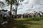 PALM BEACH GARDENS, FL. - Carl Pettersson hits from the gallery on hole 8 during Round Two play at the 2009 Honda Classic - PGA National Resort and Spa in Palm Beach Gardens, FL. on March 6, 2009.