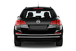 Straight rear view of a 2015 Opel ASTRA Enjoy 5 Door Wagon 2WD Rear View  stock images