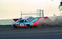 Richard Petty hits the wall in the Atlanta Journal 500 at Atlanta International Raceway in Hampton, GA, November 1988.  (Photo by Brian Cleary/www.bcpix.com)