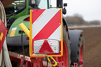 1-3-2021 Marker and light boards on a seed drill<br />  ©Tim Scrivener Photographer 07850 303986<br />      ....Covering Agriculture In The UK....