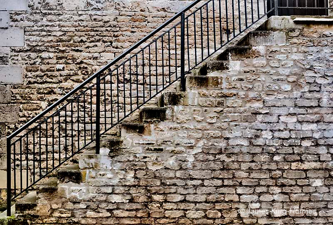External staircase , Stamford, Lincolnshire, UK