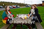 Enjoying a chat after a stroll on Monday, l to r: Rosa Horgan and Amanda McEllistrim with Toby and Sam the dogs.