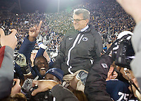 State College, PA - 11/06/2010:  After the game, Joe Paterno was carried to the center of the field by his players.  Despite trailing 21-0 in the first quarter, Penn State defeated Northwestern by a score of 35-21 at Beaver Stadium to give head coach Joe Paterno his 400th career victory...Photo:  Joe Rokita / JoeRokita.com..Photo ©2010 Joe Rokita Photography