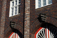 Feuerwehrgebäude von 1924-28 in Wismar, Mecklenburg-Vorpommern, Deutschland, UNESCO-Weltkulturerbe