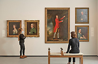 BNPS.co.uk (01202) 558833<br /> Pic: ZacharyCulpin/BNPS<br /> <br /> PICTURED: The museum's newly refurbished art gallery features portraits of the great and the good of Dorset's past<br /> <br /> An important Roman mosaic that has been saved for the nation went on display today at a county museum.<br /> <br /> The Dorset Museum unveiled the 1,700-year-old panel depicting a leopard attacking an antelope that it acquired earlier this year to stop it from going abroad.<br /> <br /> It forms the centrepiece for the venue which is about to reopen following a £16m transformation that has taken three years.
